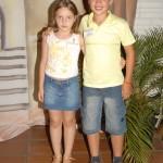 Magali e Gabriel Conte, neta e neto de Teresinha Dametto Vieira.