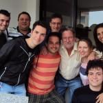 Clovis Dametto (atrás) e Clemar da Silva Dametto (à direita), Marcos Dametto, Juliano Dametto, Marcos Dametto, Marcelo Dametto, Ivan José Dametto, Fernanda Dametto e Luciano Dametto (sentado), em Passo Fundo – RS.
