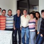 Famílias Ivan José Dametto e Clovis Dametto, em Passo Fundo – RS. Marcos, Marcelo, Juliano, Clovis e Ivan José, Fernanda, Clemar, Luciano e Marcos.
