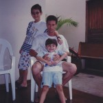 Clovis Dametto com os filhos Luciano (*28/04/1992) e Marcos (*12/05/1986).