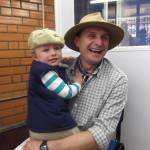Evandro Coronetti com o filho Davi (*07/10/2009).