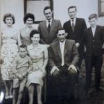 Na frente: Gilberto Luiz, Maria Julia Canal e Angelo Eugenio Dametto. Atrás: Ilse Maria, Ignes, Rynaldo (Campo), Elzirio e Azir Dametto.