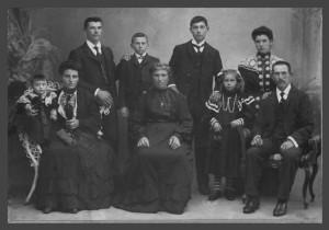 Família de Giovanni Ferronato e Maria Dametto, irmã de Angelo Dametto.