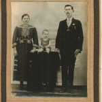 Assumpta Zanatta e Giosuè Dametto, com o filho Olívio Silvestre.