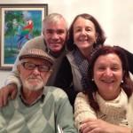 Ivo Chies, 86 anos, com filhas e filho: Joceliene, Jocelei e Zulmiro Prigol Chies.