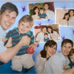 Jairo Gustavo Dametto e Sidiane Sbeghen com o filho Augusto.