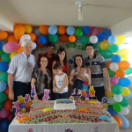 Família de Telmo Dametto comemorando aniversário de Augusto Sbeghen Dametto (nascido no dia 15/12/2009).