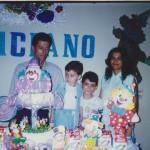 Clovis e Clemar Dametto com os filhos Marcos (*12/05/1986) e Luciano (*28/04/1992) - aniversário em 1996.