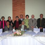 Thereza Dametto Chies no seu centenário, com filha e filhos, genro e noras, em 04/06/2006.
