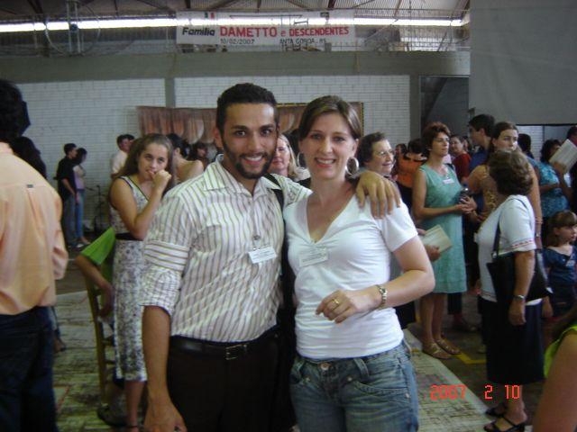 Primos André Luiz Dametto e Liciane Roling.