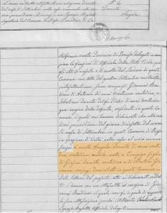 Ata de falecimento de Angela Dametto - 1871.