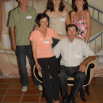 Família Zeferino Stello: Nilde e Zeferino, Márcio, Mirna e Mariza. Primeiro Encontro da Família Dametto, dia 09/02/2007.