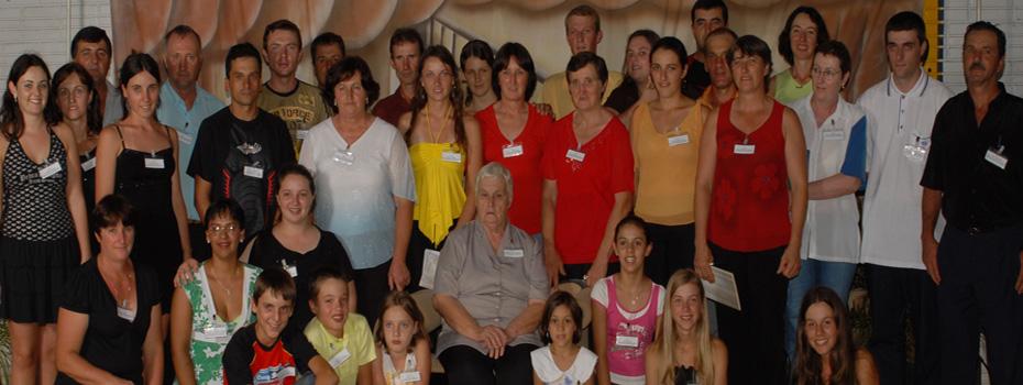 Membros da família Oreste e Onorina Nardi Dametto.