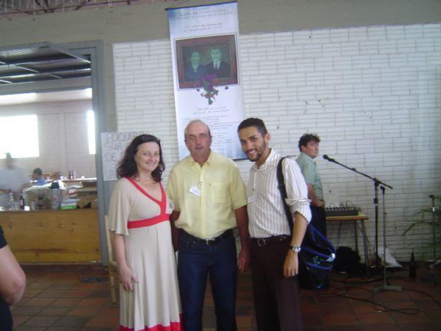 Nair Dametto, Luiz Alberto Lizzotti (filho de Rosa Dametto) e André Luiz Dametto.