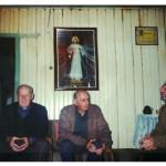 Três filhos de Magdalena Dametto e Angelo Steffani: Catharin, Alberto e Olívio Steffani.