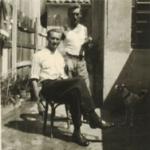 Adelino Dametto e amigo em Porto Alegre.