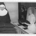 Irmã Amélia Dametto. Entrada no Noviciado, dia 11 de fevereiro de 1966, na Igreja São Pelegrino, Caxias do Sul – RS.