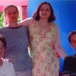 Amélia, Maria e Nair Dametto, com o sobrinho Pedro Roling.