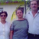 Amélia Dametto e casal Maria Teresinha Dametto e Pedro Roling. Medianeira - Pr.