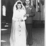 Amélia Regina Teló e Antonio Dametto. Casamento no dia 08/02/1947.