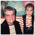 Amalia Mosena Dametto e neta Aline Dametto Silva.