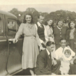 Em pé: Idília Bertotto (casada com Mario Bertotto), Adelino Dametto, Maria Santina Bertotto, Assumpta Zanatta, Felicita Riedi. Acocorados: Irmãos Mario e Fioravante Bertotto.