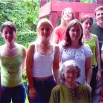 Netas e netos de Victor e Carmelinda Dametto (sentada): Marcelo e Juniele Dametto, Karen e Lígia Meneghetti, Clarice e Roberto Roling, Juliane e André Dametto.