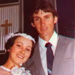 Eva da Silva e Celso Ari Dametto. Casamento no dia 26/01/1985.