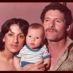 Marlene do Amarante e Claudio Luiz Dametto com o filho Tiago Valentim, nascido no dia 08/08/1981.