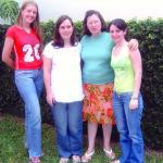 Clarice Roling, Lígia Meneghetti, Elzira Dametto e Juniele Dametto. Medianeira - Pr.