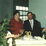 Casal Domingos Steffani e Lourdes Chies Steffani – 30o aniversário de casamento, 18 de outubro de 1998.