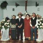 Domingos e Lourdes Chies Steffani entre o casal Maria Pedruzzi (Zinha) e Raimundo Atílio Steffani.