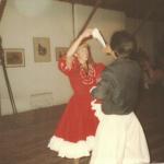 Eliane Dametto e partner de dança.