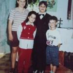 Elisabete, Adriana, Cezar e Leandro Dametto - Primeira Eucaristia de Cezar Dametto.