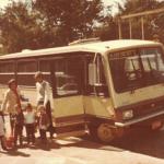 Transporte escolar da família Adelino e Maria Santina Bertotto Dametto para o Colégio São João, Porto Alegre, c. 1975.