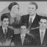 No alto: Emma Maria Carlotto e Eugênio Dametto. Embaixo: seus filhos Irani, Telmo e Linor [Nori].