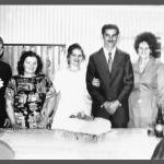 Casamento de Irani Dametto e Amélia [Leda] Tasca. À esquerda: Pedro Tranquilo Tasca e Maria Santini. À direita: Emma Maria Carlotto e Eugenio Dametto (pais de Irani).