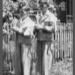 Linor e Irani Dametto no dia da Primeira Comunhão.