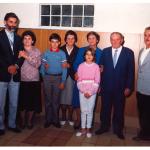 Irani Dametto e Amélia [Leda] Tasca, André Dametto, Emma Maria Carlotto, casal Evelina e Heitor Spader, Linor [Nori] Dametto. Na frente: Juliana Águeda Dametto (filha do Irani).