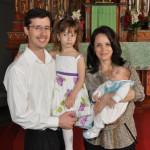 Família César Moresco, filho de Rita Dametto. César com Ana Clara; Carla Inês Miotto com Eduardo.