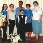 Daniela, Márcia, Sadi Divino (pai), Nair Favretto (mãe), Adriana e Mateus Dametto.