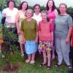 Família Victor Dametto: Elzira, Justina, Nair, Carmelinda Parisotto Dametto, Ir. Amélia, Lourdes Anna, Assunta, Maria e Catarina. Medianeira - Pr.