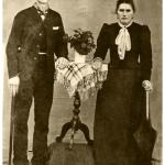 Ferdinando Dametto e Antonia Zucatti no dia do casamento, em 1900.