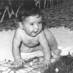 Gérris Vítor Roversi, neto de Victor e Carmelinda Dametto. c. 1977.