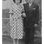 Graciosa Dametto e Genir Spadini – dias após o casamento em 14/09/1951.
