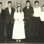 Casamento de Helena Dametto (*23/12/1940) em 25/01/1969 com Arlindo Seidler (*02/10/1943): Lírio, Darci, Artemio, Helena, Alceu, Josué, gêmeos Dorival e Dorval.