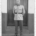 Honorino Antônio Dametto, com uniforme de soldado do Exército.