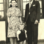 Casal Ida Zanatta e Olívio Silvestre Dametto com o filho Josué Dametto (*11/03/1941).
