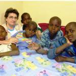 Irmã Amélia Dametto. Missão em Ressano Garcia, província de Maputo, Moçambique, África (no período de 2005 a 2010).