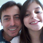 Joel Dametto e filha Eduarda Dametto.